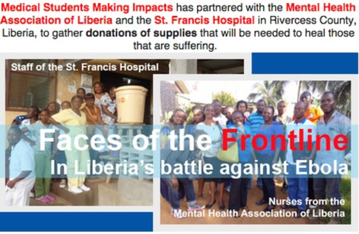 Above is a photo of the poster we posted around the hospital to collect donations for our partner health centers.