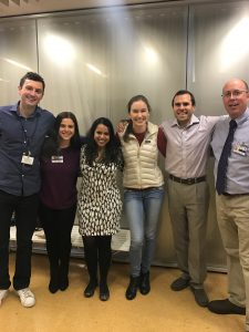 Left to right: Matthew Spindler (Co-Founder), Brittany Glassberg (Co-Founder), Dr. Srividya Bhadriraju (Med-Peds Residency Graduate), Mackenzie Naert (Co-Founder), Dr. Joseph Truglio (Med-Peds Residency Graduate and Interest Group Advisor), Dr. David DeLaet (Med-Peds Residency Graduate) at our Med-Peds Interest Panel on November