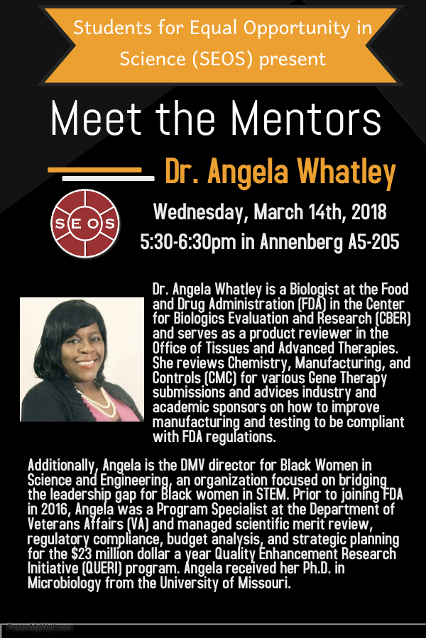 20180314 Meet the Mentors - Dr Whatley