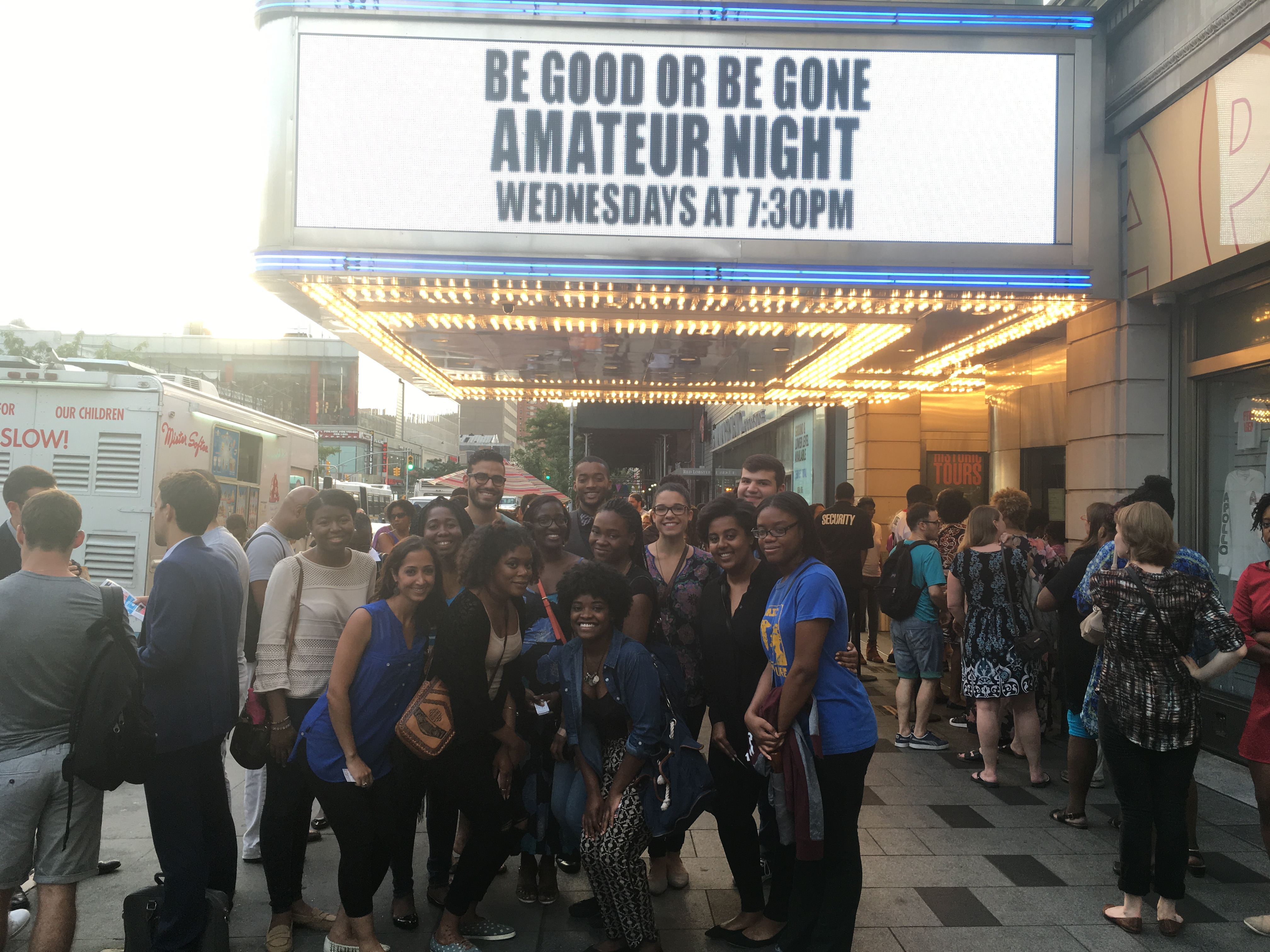 SEOS members with PREP Scholars at the Apollo Theater