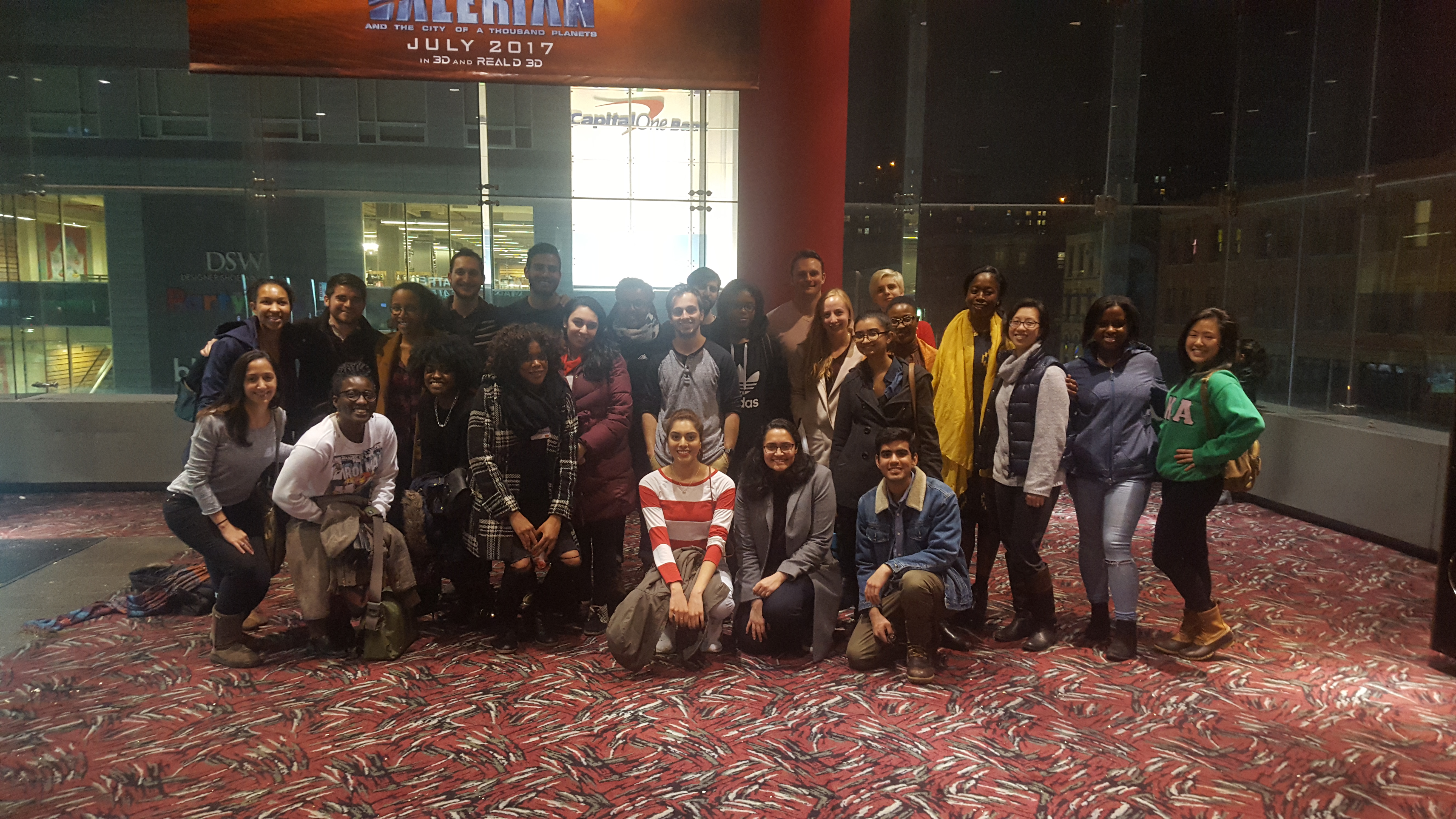 Group Photo after Hidden Figures Movie Night
