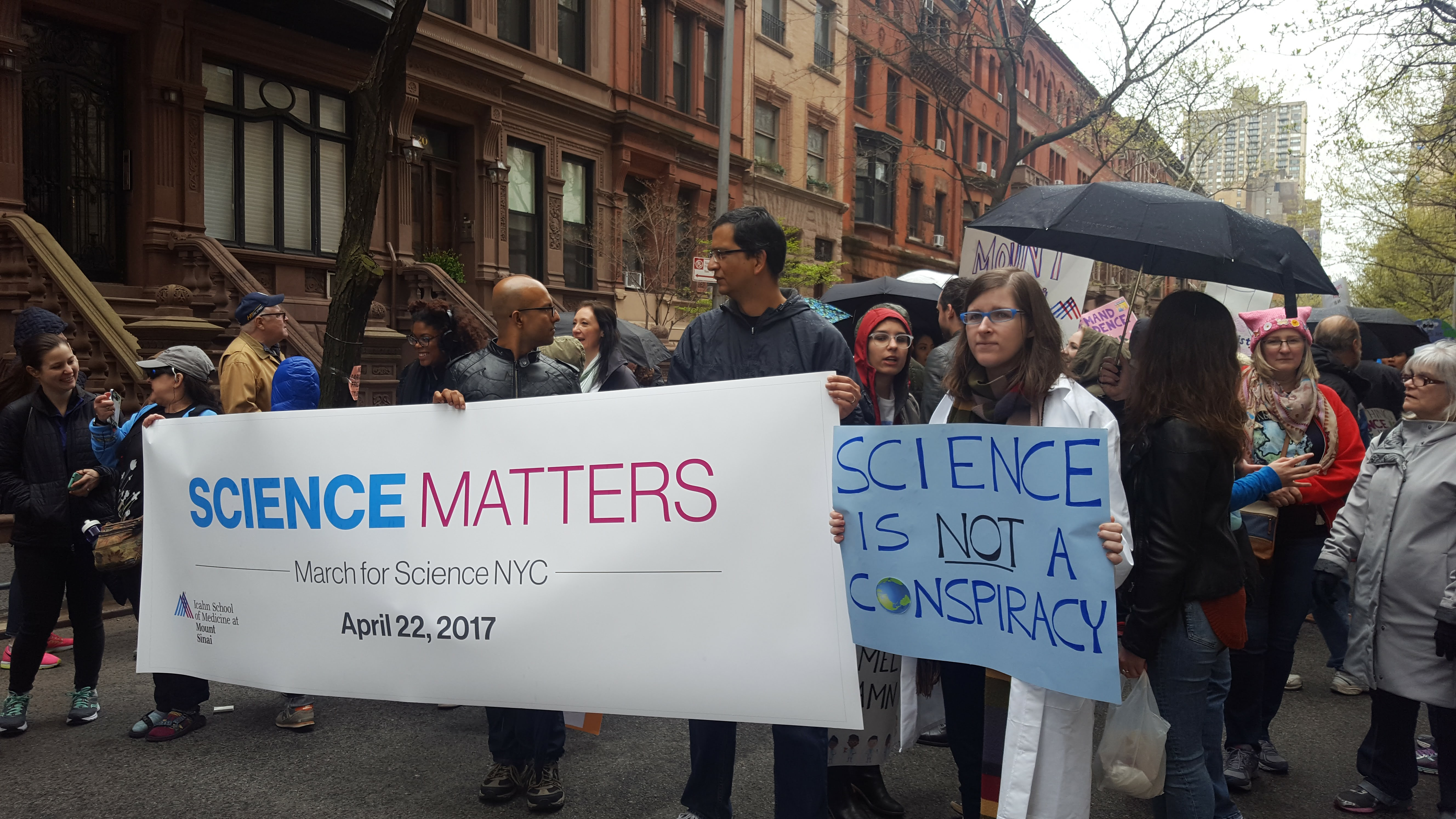 Mt Sinai contingent at the March