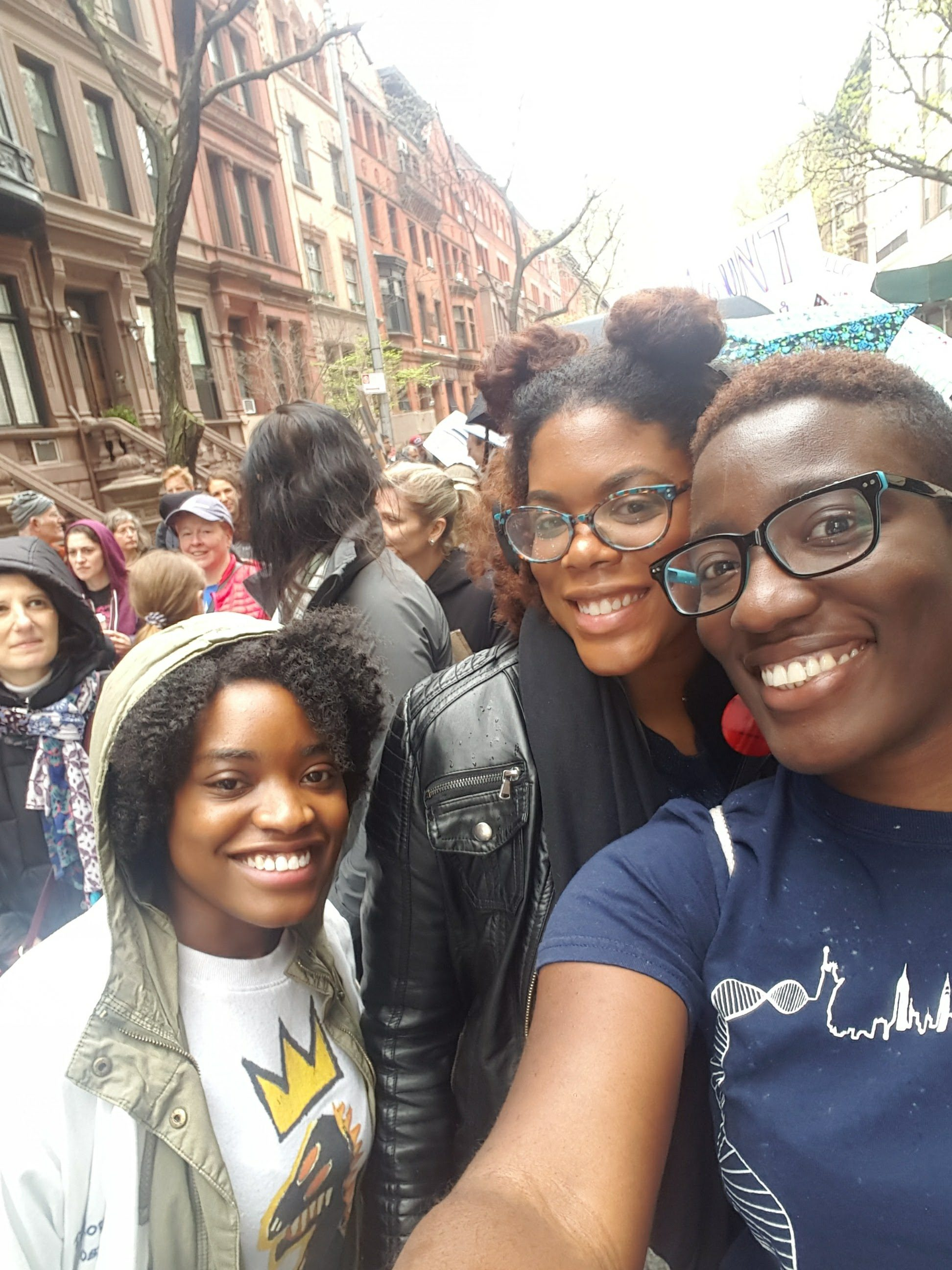 SEOS Board Members, Jennielle, Justine and Ezi at the March