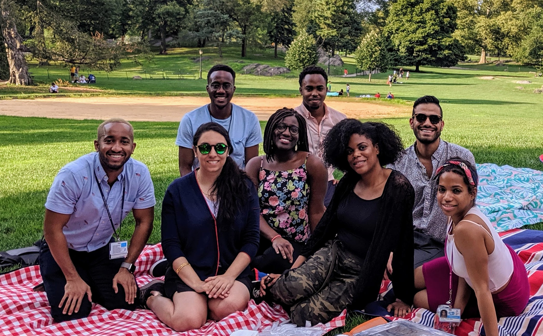 board members at the picnic